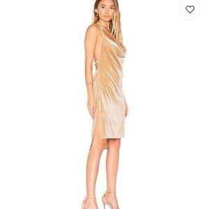 Lioness Vegas Velvet Mini Dress in Nude